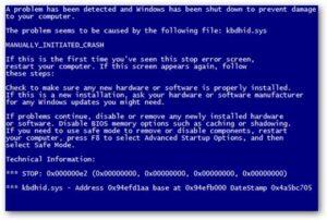 Lỗi màn hình xanh -Sửa máy tính tại nhà quận 3