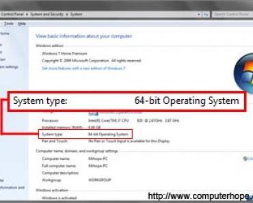 Khác biệt giửa windows 32 bit và 64 bit là gì ?