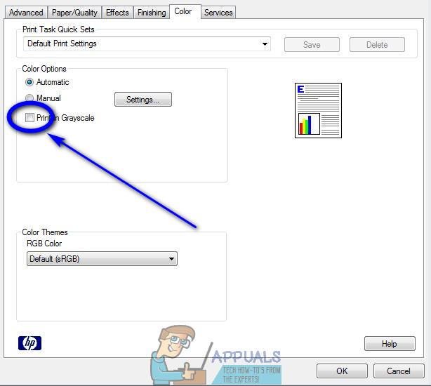Các Cách cài chế độ in trắng đen trong Microsoft Word