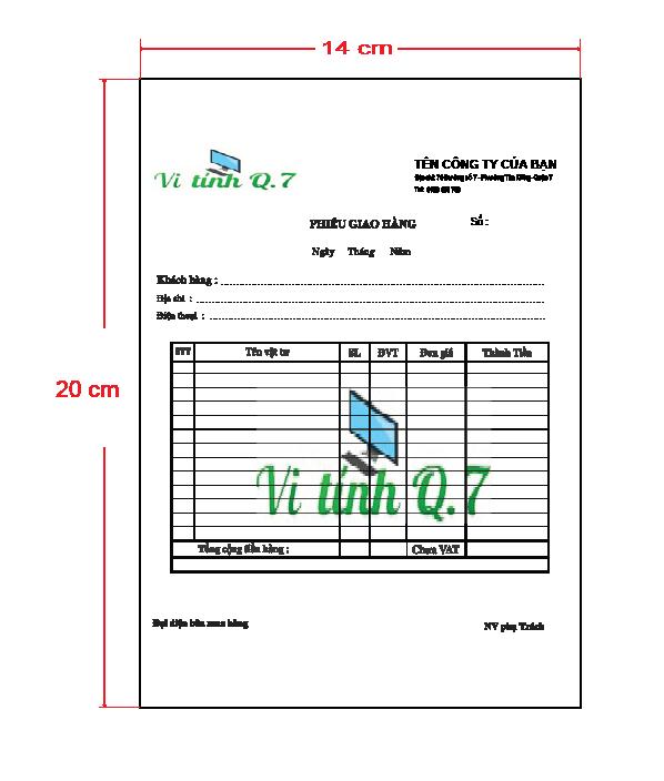 Biểu mẫu giấy Fort 70 gsm khổ giấy A5 (14x 20 cm)