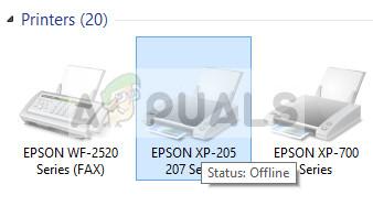 Sửa lỗi máy  in Epson bị Offline