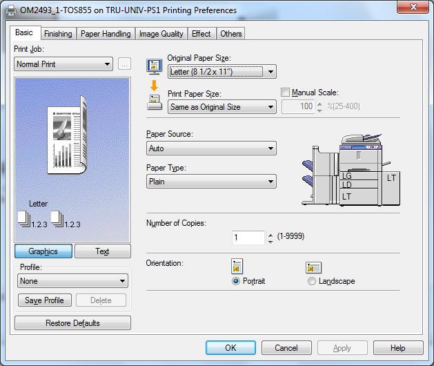 Cách chỉnh mặc định máy in trong windows