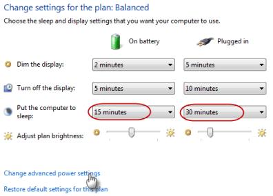 Sửa lỗi Windows 7 không có chế độ sleep hay chế độ sleep không hoạt động